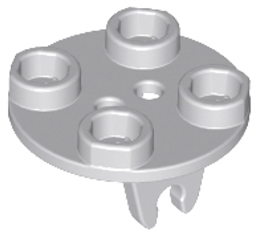 Plate, Round 2x2 Thin with Wheel Holder (Light Bluish Gray)
