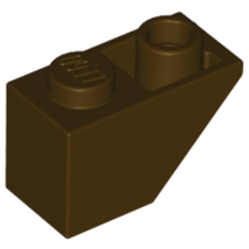 Slope, Inverted 45 2x1 (Dark Brown)