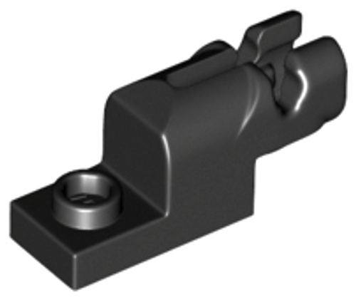 Projectile Launcher Gun, 1x2 Mini Blaster / Shooter (Black)