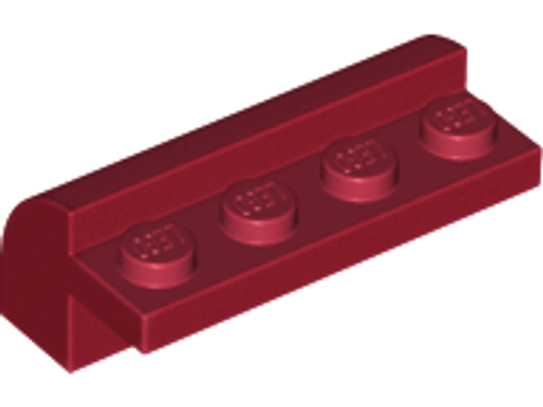 Slope Brick, Curved 2x4x1 1/3 with Four Recessed Studs (Dark Red)
