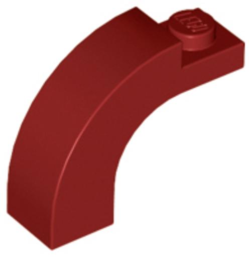 Brick, Arch 1x3x2 Curved Top (Dark Red)