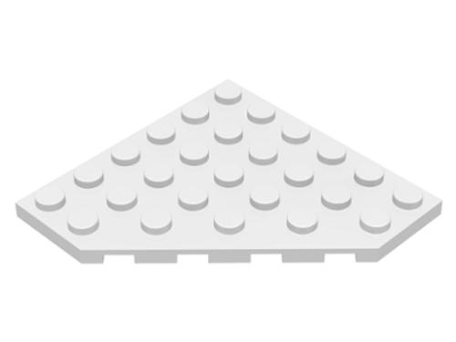 Wedge, Plate 6x6 Cut Corner (White)