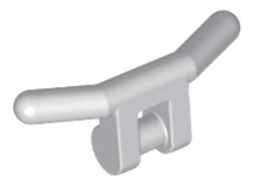 Minifigure, Utensil Handlebars (Light Bluish Gray)