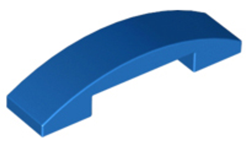 Slope, Curved 4x1 Double No Studs (Blue)