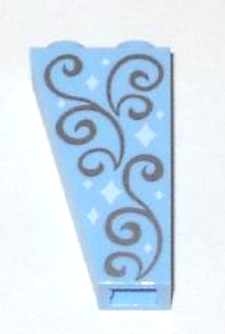 Slope, Inverted 75 2x1x3 with Stars and Swirls Pattern (Bright Light Blue)