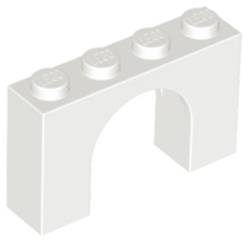 Brick, Arch 1x4x2 (White)