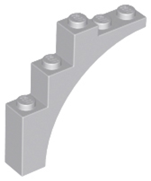 Brick, Arch 1x5x4 - Continuous Bow (Light Bluish Gray)
