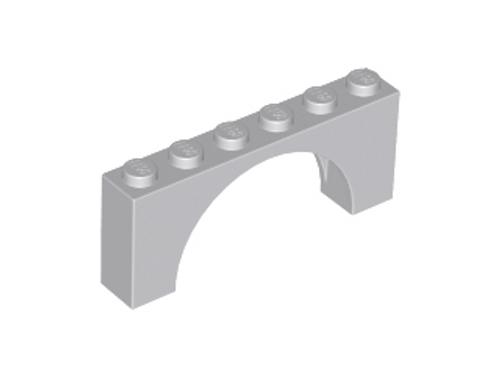 Brick, Arch 1x6x2 - Medium Thick Top (Light Bluish Gray)