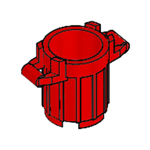 Container, Trash Can with 4 Cover Holders (Red)
