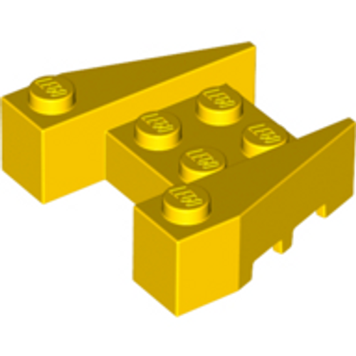 Wedge 3x4 with Stud Notches (Yellow)