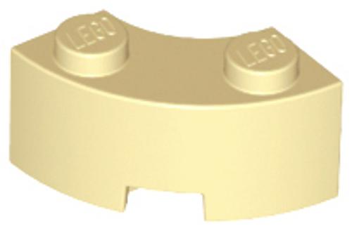 Brick, Round Corner 2x2 Macaroni with Reinforced Underside (Tan)