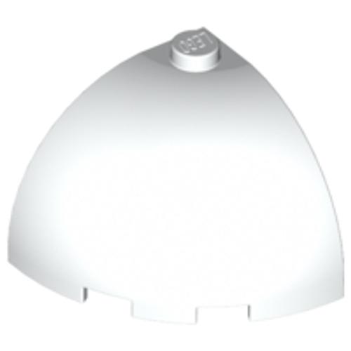 Brick Round Corner 3x3x2 Dome Top (White)