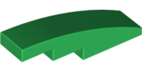 Slope, Curved 4x1 No Studs (Green)
