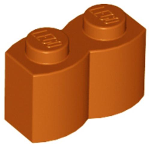 Brick, Modified 1x2 Log Palisade (Dark Orange)