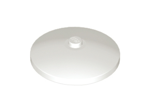 Dish 4x4 Inverted (Radar) with Solid Stud (White)