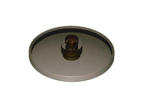 Dish 4x4 Inverted (Radar) with Solid Stud (Trans Black)