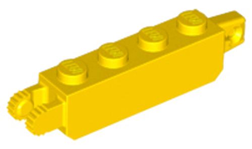 Hinge Brick 1x4 Locking (Yellow)