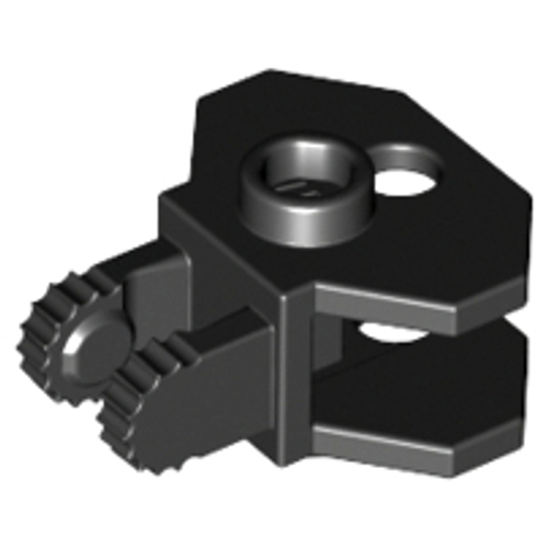 Hinge 1x2 Locking with 2 Fingers, 9 Teeth and Tow Ball Socket (Black)