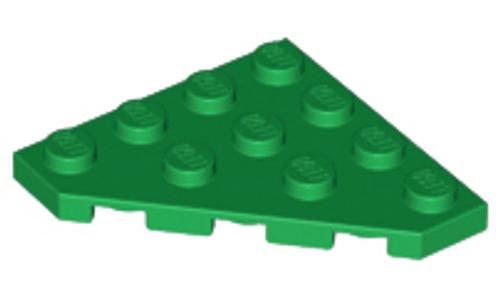 Wedge, Plate 4x4 Cut Corner (Green)