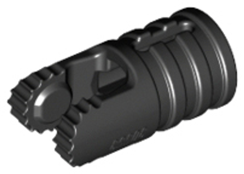 Hinge Cylinder 1x2 Locking with 2 Fingers (Black)