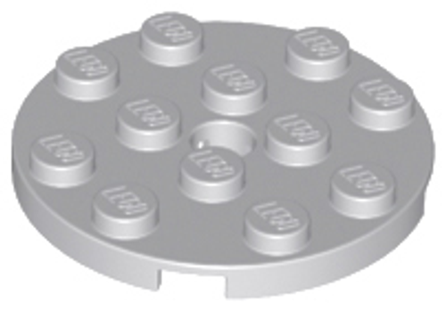 Plate, Round 4x4 with Hole (Light Bluish Gray)