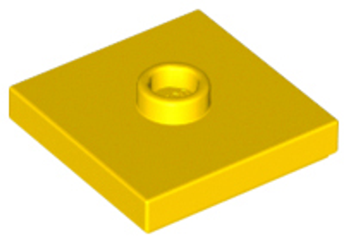 Plate Tile, Modified 2x2 with Groove and 1 Stud in Centre (Jumper) (Yellow)