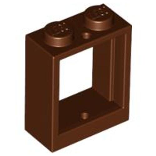 Window Frame 1x2x2 Flat Front (Reddish Brown)