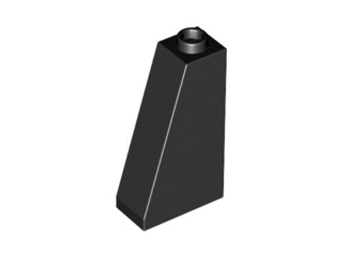 Slope 75 2x1x3 - Hollow Stud (Black)