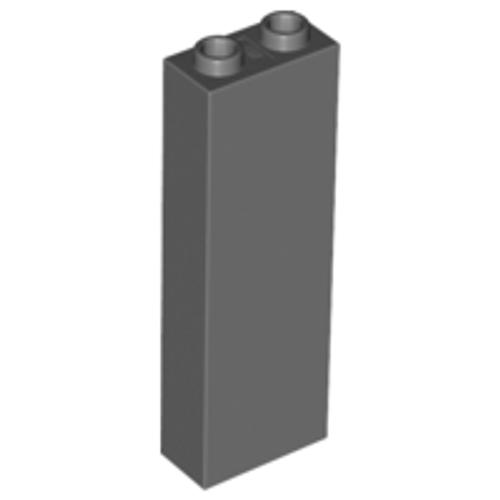Brick 1x2x5 - Blocked Open Studs or Hollow Studs (Dark Bluish Gray)