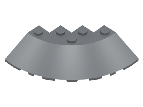 Brick, Round Corner 6x6 with Slope 33 Edge (Dark Bluish Gray)