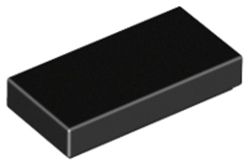 Tile 1x2 with Groove (Black)