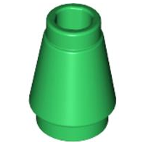 Cone 1x1 with Top Groove (Green)