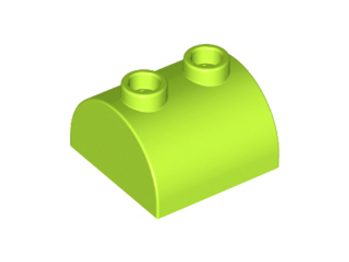 Brick, Modified 2x2 Curved Top with 2 Top Studs (Lime)