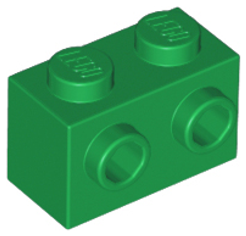 Brick, Modified 1x2 with Studs on 1 Side (Green)
