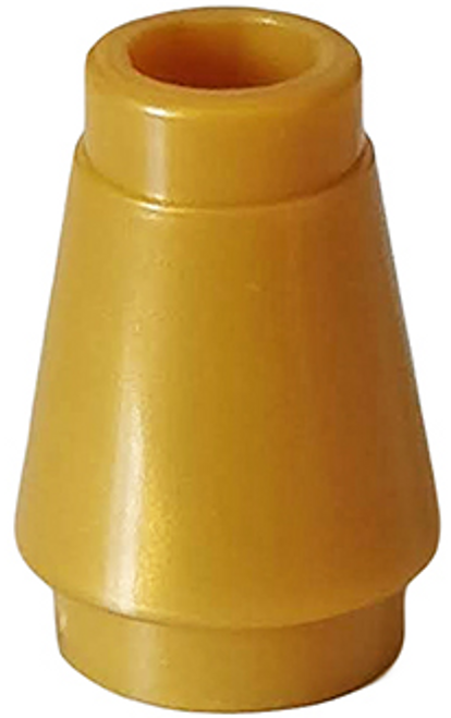 Cone 1x1 with Top Groove (Pearl Gold)