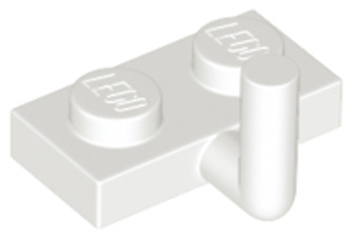 Plate, Modified 1x2 with Arm Up (White)