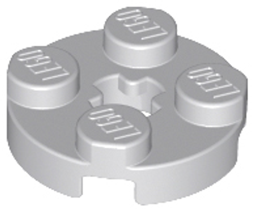 Plate, Round 2x2 with Axle Hole (Light Bluish Gray)