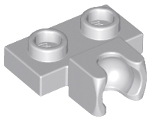 Plate, Modified 1x2 with Small Tow Ball Socket on Side (Light Bluish Gray)