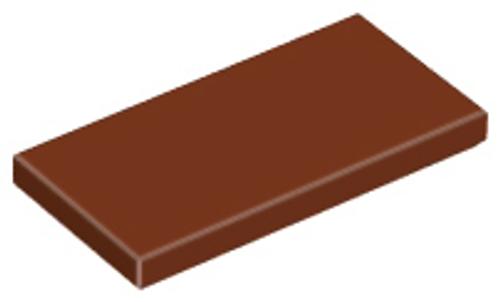 Tile 2x4 (Reddish Brown)