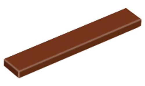 Tile 1x6 (Reddish Brown)