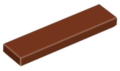 Tile 1x4 (Reddish Brown)