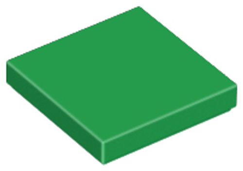 Tile 2x2 with Groove (Green)