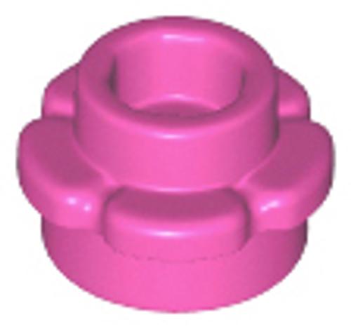 Plate, Round 1x1 with Flower Edge (5 Petals) (Dark Pink)