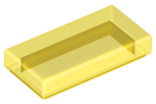 Tile 1x2 with Groove (Trans Yellow)