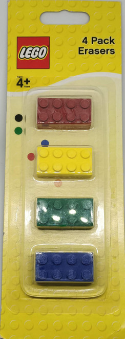 LEGO 4 Pack Erasers (RYGB)