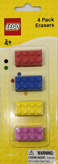 LEGO 4 Pack Erasers (RBYP)
