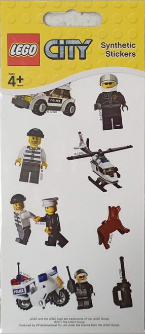 LEGO City Police Stickers (White)