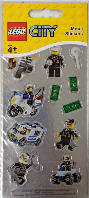 LEGO City Police Stickers (Metal)