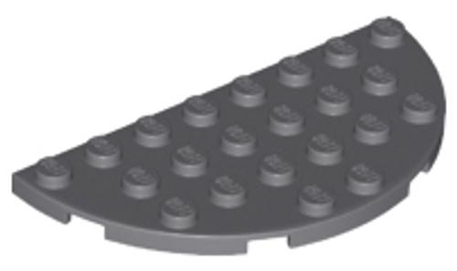 Plate, Round Half 4x8 (Dark Bluish Gray)