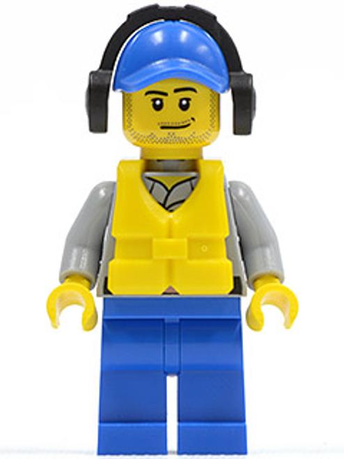 Coast Guard City - Crew Member Male, Blue Cap (cty0418)